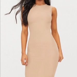 Dresses & Skirts - Nude Ribbed Midi Dress